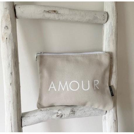 Trousse gris perle - Amour