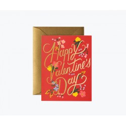Carte double Rouge Valentine
