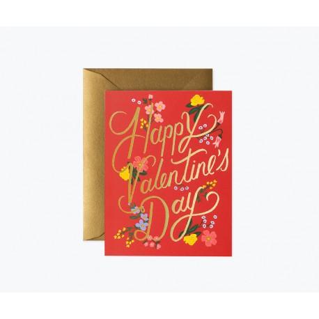 Carte double Rouge Valentine