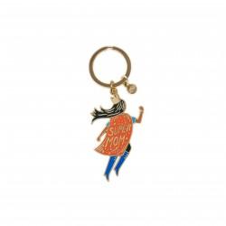 Porte-clé émaillé Super mom en vol