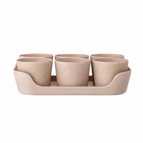 Ensemble 6 pots + 1 plateau pour plantes