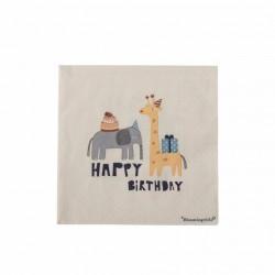 Serviettes en papier Happy birthday Girafe et éléphant
