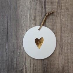 Médaillon Coeur doré à la feuille d'or