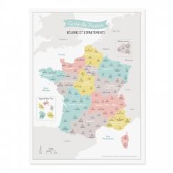 Affiche Carte de France A3