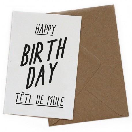 Carte postale Tête de mule