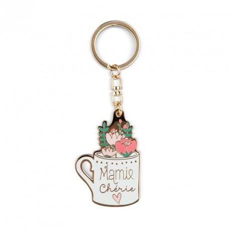 Porte-clés Mamie chérie - tasse