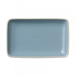 "Assiette rectangulaire ""Winter blue"""