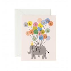 Carte double Welcome Elephant
