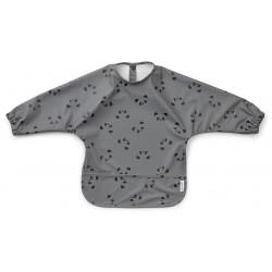 Bavoir/tablier à manches - Panda stone grey