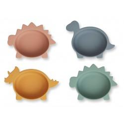 Lot de 4 Iggy silicone bowls - Dino