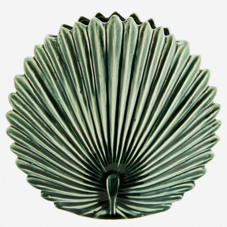 Grand vase paon vert