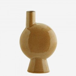 Vase soli-rond brown