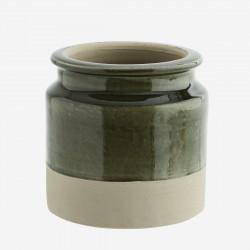 Pot de fleurs brut et vert