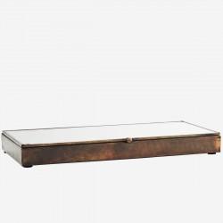 Boîte fine en bois et verre - 30cm