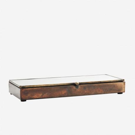 Boîte fine en bois et verre - 25cm
