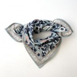 Baby foulard manika Coeurs - bleu glacier