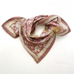 Baby foulard manika Coeurs - bois de rose