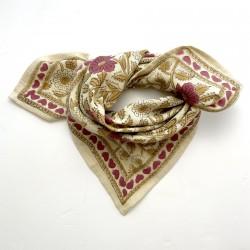 Baby foulard manika Coeurs - vanille