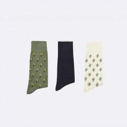 Trio de chaussettes cactus/toucan - 38/41
