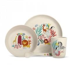 Set de vaisselle en bambou - Savane