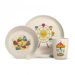 Set de vaisselle en bambou - Fête forraine