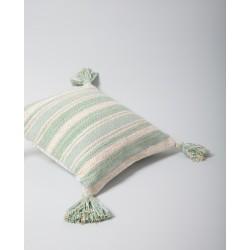 Coussin en coton à rayures - Rio cielo