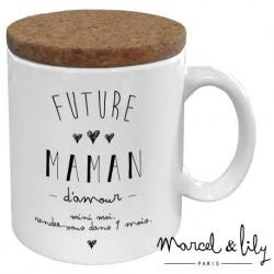 Mug avec couvercle Future maman
