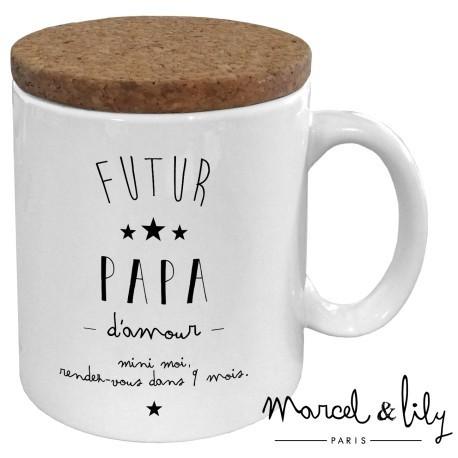 Mug avec couvercle Future papa