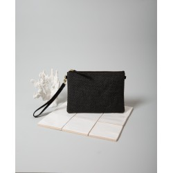 Pochette Willy Raphia noir