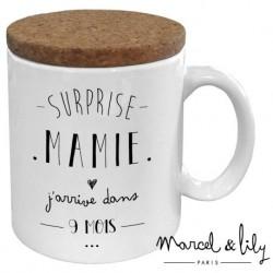 Mug avec couvercle Surprise Mamie