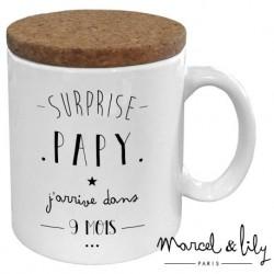 Mug avec couvercle Surprise Papy