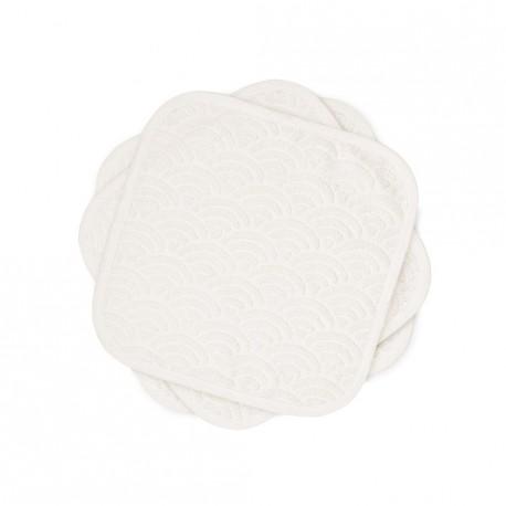 Pack de 3 lingettes bio lavables - off-white