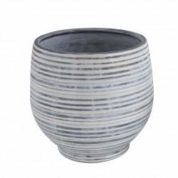 Pot de fleurs gris Linemai
