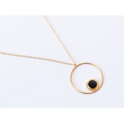 Collier Maou ring - Noir SS21