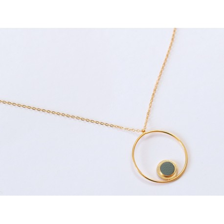 Collier Maou ring - Sauge SS21