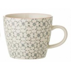 Mug Cecile motifs gris