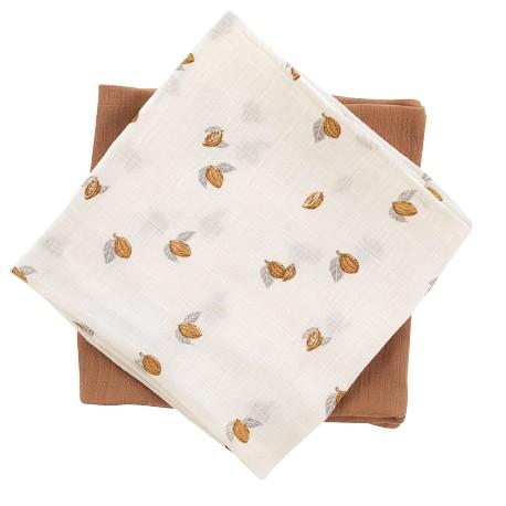 Pack de 2 petits langes Tonka/nut