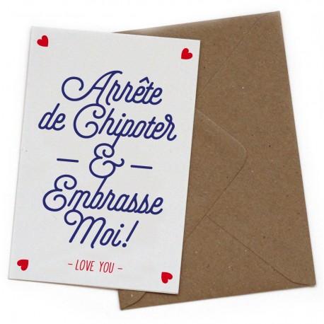 "Carte postale ""Arrête de chipoter"""