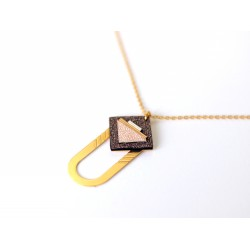 Collier Saq Brun cosmique/or rose SS21