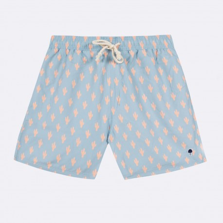 """Short de bain """"Cactus"""" Bleu ciel - Taille XL"""