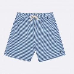 Short de bain rayé bleu marine - Taille S