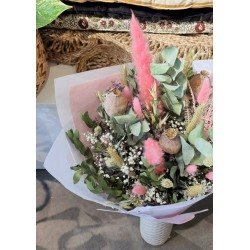 Bouquet séché Fuschia - Taille L