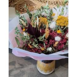 Bouquet séché Prune ocre - Taille L
