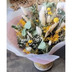 Bouquet séché Jaune d'or - Taille L