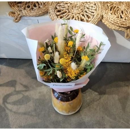 Bouquet séché Jaune d'or - Taille M