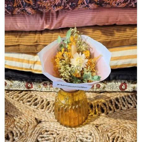 Bouquet séché Jaune d'or - Taille XS