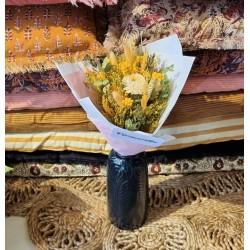 Bouquet séché Jaune d'or - Taille S