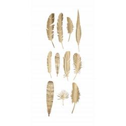 Plumes dorées en papier