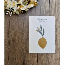 Carte papier Bienvenue petit citron