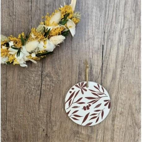 Médaillon Bloom terracotta